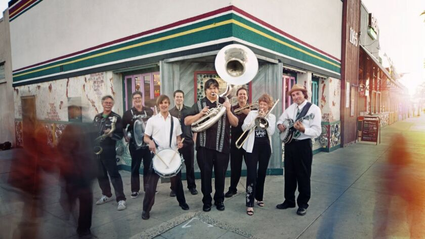 "San Diego's Euphoria Brass Band will bring a celebratory New Orleans flavor to its Jan. 18 ""Percussion Lovefest 2"" performance at Bread & Salt."