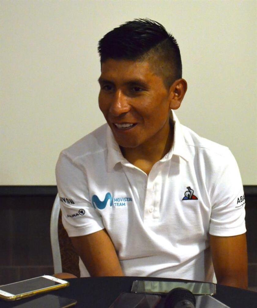 El ciclista colombiano Nairo Quintana habla en entrevista con Efe este jueves, en San Juan (Argentina). EFE