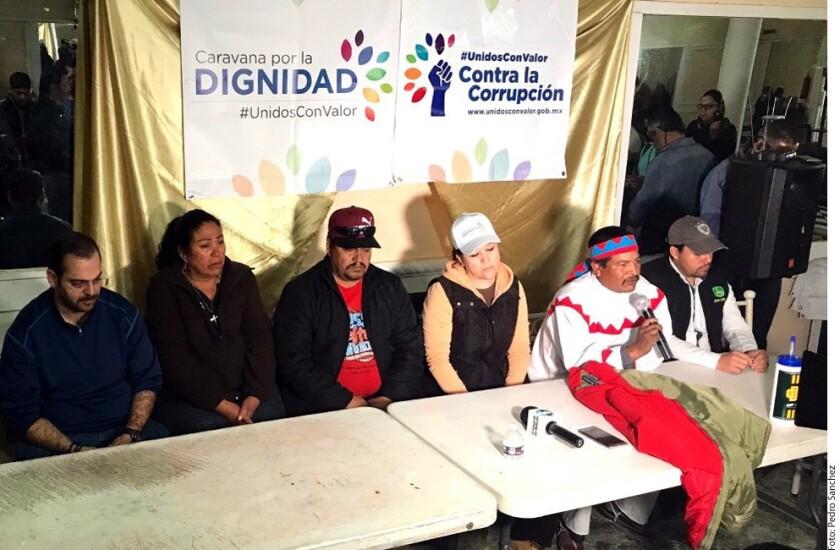 Integrantes de la Caravana por la Dignidad indicaron que las agresiones no los amedrentarán y que llegarán a la Ciudad de México el próximo 4 de febrero.