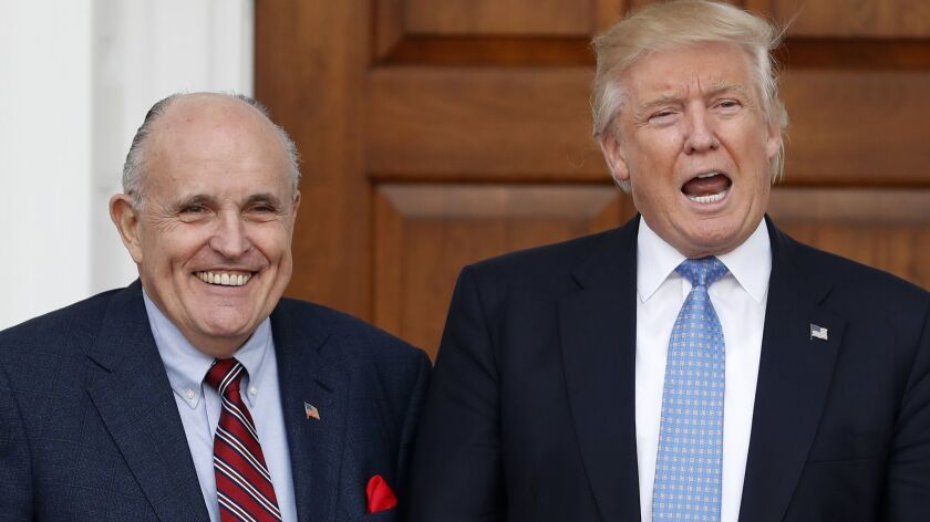 President Trump and Rudolph Giuliani have demonstrated unique views of the impeachment process.