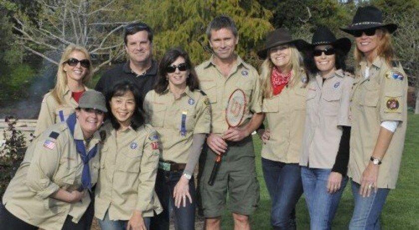 Scout leaders Marcia McDonough, Maria Delgado, Linda Leong, Rob Greenwell, Nancy Jo Cappetta, Desmond Wheatley, Annette Caton, Michelle Sajor, Sally Wright (Photo: Rob McKenzie)