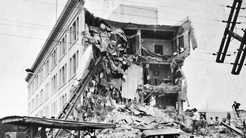 1925: Damage from the June 29, 1925, Santa Barbara earthquake.