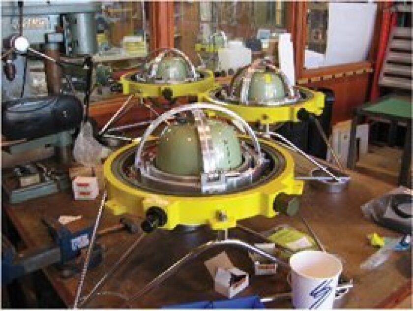 Data from Scripps Oceanography's ocean bottom seismometers will be integrated into the Project IDA global seismographic network. Photo: Scripps Institution of Oceanography/UCSD