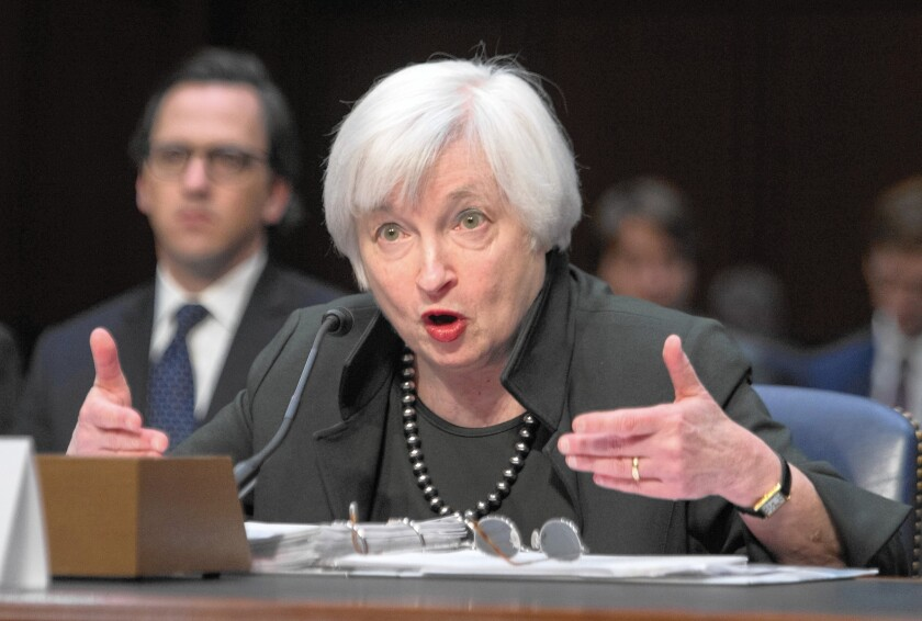 Federal Reserve Chairwoman Janet L. Yellen testifies before the U.S. Joint Economic Committee on Dec. 3.