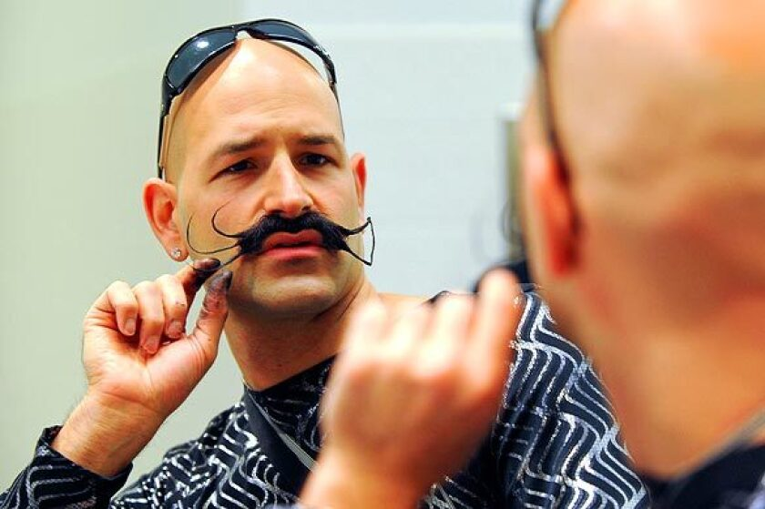 A competitor at the World Beard and Moustache Championships