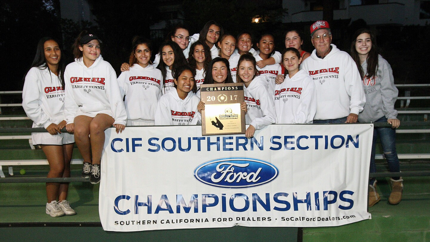 Photo Gallery: Glendale girls' tennis CIF Champions