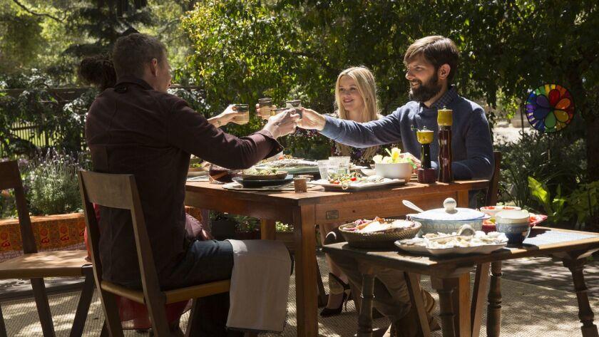 "Zoe Kravitz, left, James Tupper, Reese Witherspoon and Adam Scott in ""Big Little Lies."""