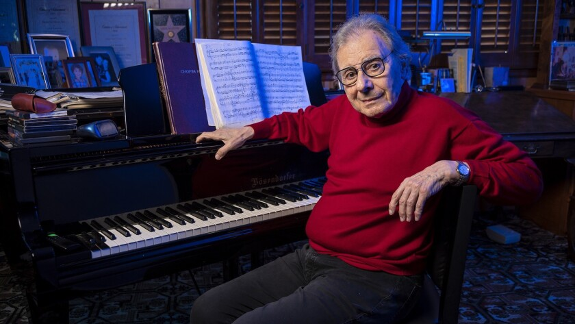 BEVERLY HILLS, CA - NOVEMBER 09, 2018 - Composer Lalo Schifrin photographed at his home studio in Be