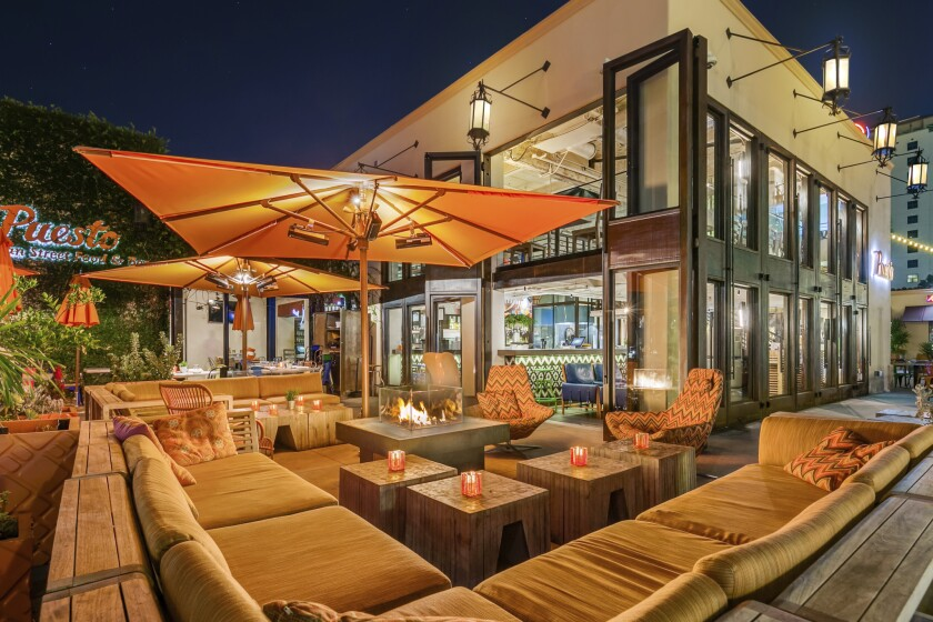Puesto at The Headquarters has one of downtown San Diego's liveliest patios.