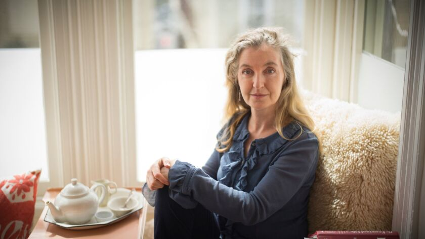 "Rebecca Solnit at home in San Francisco in 2013. She's won the Kirkus Prize for her nonfiction book ""Call Them by Their True Names."""