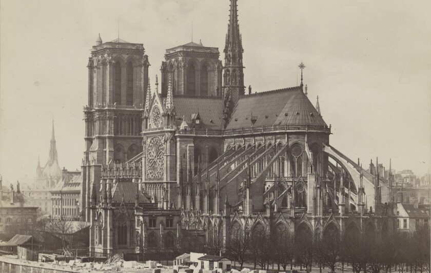 """""""Chevet de Notre-Dame-de-Paris, vue prise du Quai de La Tournelle"""" by Charles Soulier (French, 1840 - 18"""