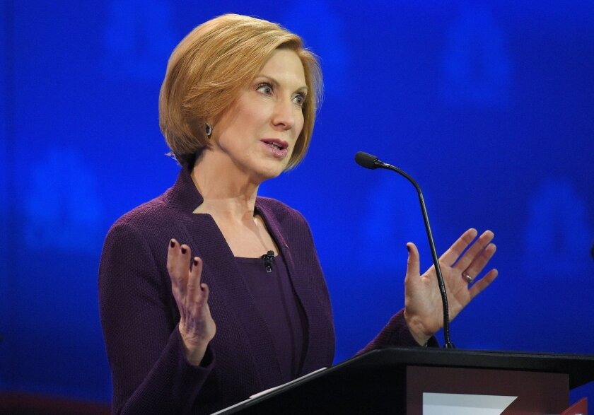 Carly Fiorina during the third GOP debate