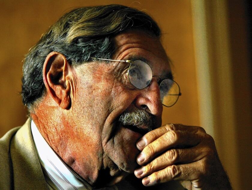 John Vasconcellos, California's longest continuously serving legislator until term limits forced him out in 2004, died Saturday at home in Santa Clara. Calif.