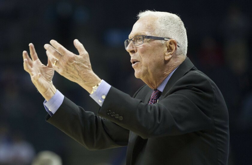 SDSU vs St. John's Mens Basketball in the second round of the NCAA Mens Basketball Tournament. Head Coach Steve Fisher.