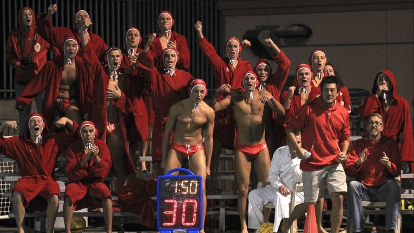Cathedral Catholic celebrates one of their final goals against Vista during the San Diego Section Op