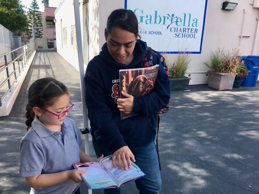 Stephanie Briseno has two children attending Gabriella Charter School in Echo Park, including first-grader Alice.