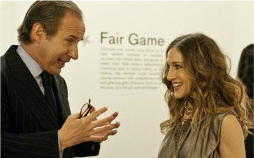 "Simon de Pury and Sarah Jessica Parker in an episode from the first season of ""Work of Art"" on Bravo."