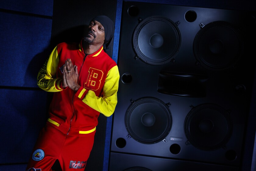 Rapper and mogul Snoop Dogg is photographed inside his Inglewood recording studio on March 15.
