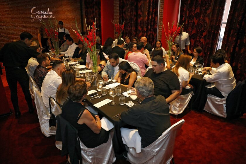 A photo of guests sitting down to eat at Cosecha SD