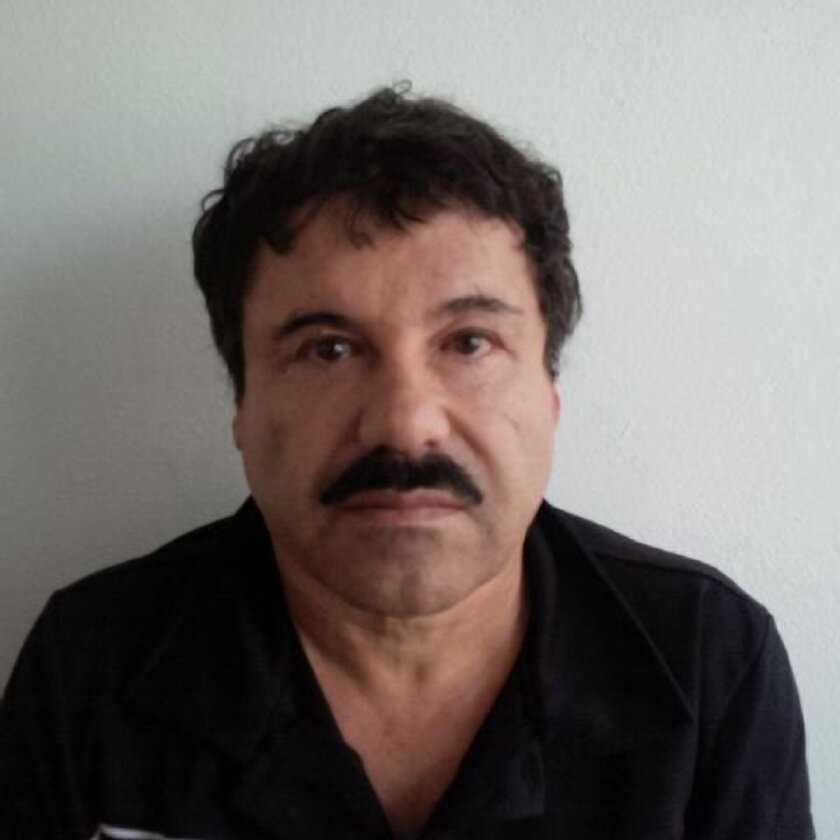 "In this image released by Mexico's Attorney General's Office, onFeb. 22, 2014, Joaquin ""El Chapo"" Guzman is photographed against a wall after his arrest in the Pacific resort city of Mazatlan, Mexico. The Associated Press has learned that Mexico's most powerful drug cartel leader employed high-tech"