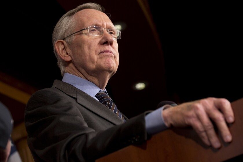 Former Senate Majority Leader Harry Reid of Nevada