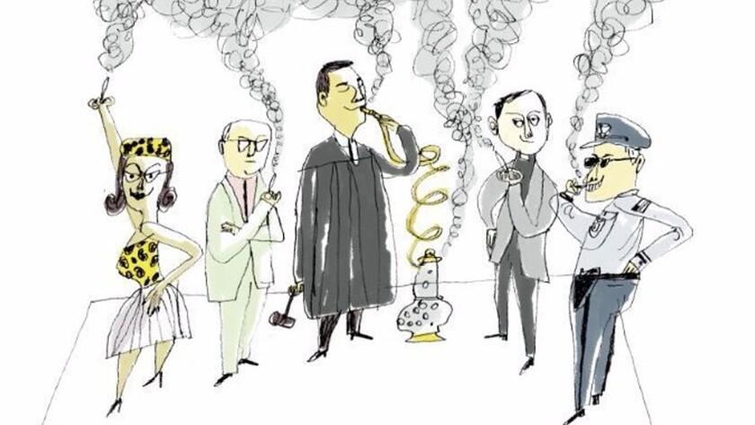 Legalized marijuana illustration