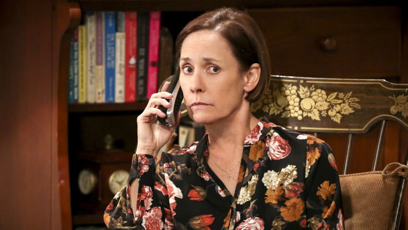 """Laurie Metcalf returns as Sheldon's mom in a new episode of """"The Big Bang Theory"""" on CBS."""