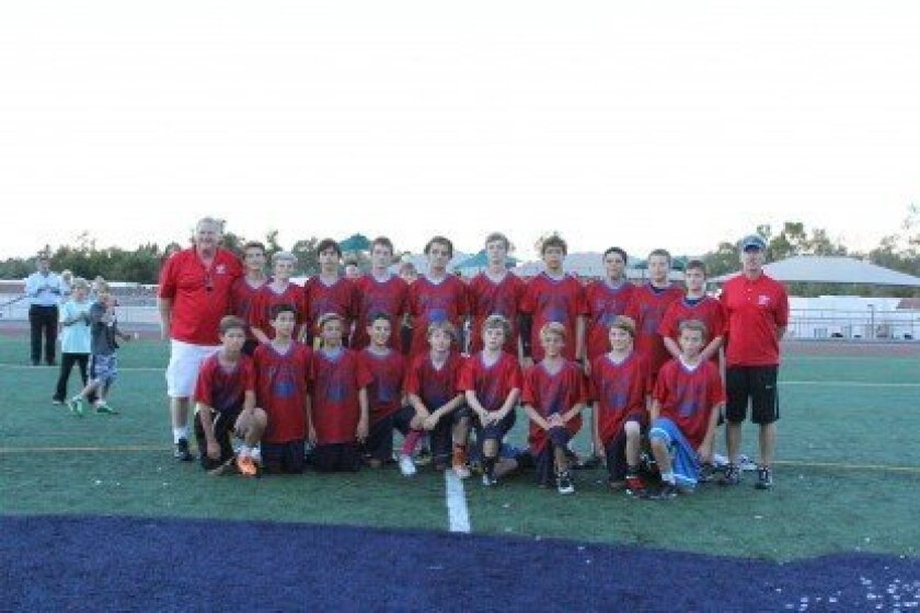 The Champion Rancho Santa Fe Eagles flag football team. Courtesy photo