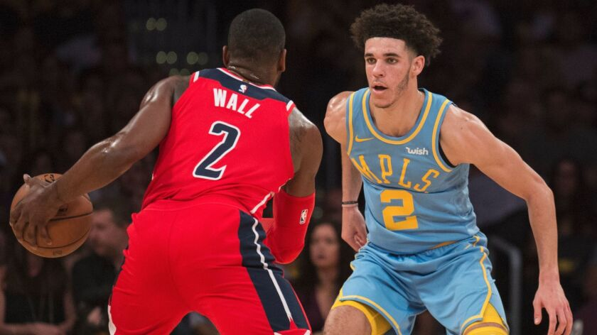 Lakers rookie point guard Lonzo Ball already has faced John Wall, Damian Lillard and D'Angelo Russell, among others.