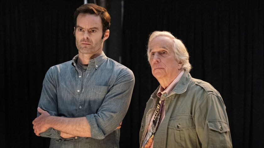 "Bill Hader and Henry Winkler in ""Barry"" Season 2. photo: Isabella Vosmikova/HBO"