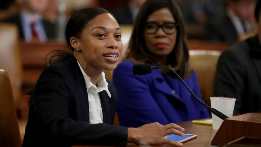 Allyson Felix testifies before the House Ways and Means Committee about the complications she sustained during her pregnancy while discussing racial and social disparities in the maternal mortality crisis.
