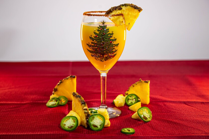 The Pineapple and Jalapeño Mockgarita is the perfect combination of sweet and salty.