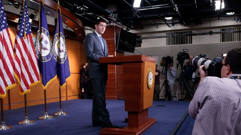 Speaker of the House Paul Ryan announces he will not run for reelection in 2018, Washington, USA - 11 Apr 2018