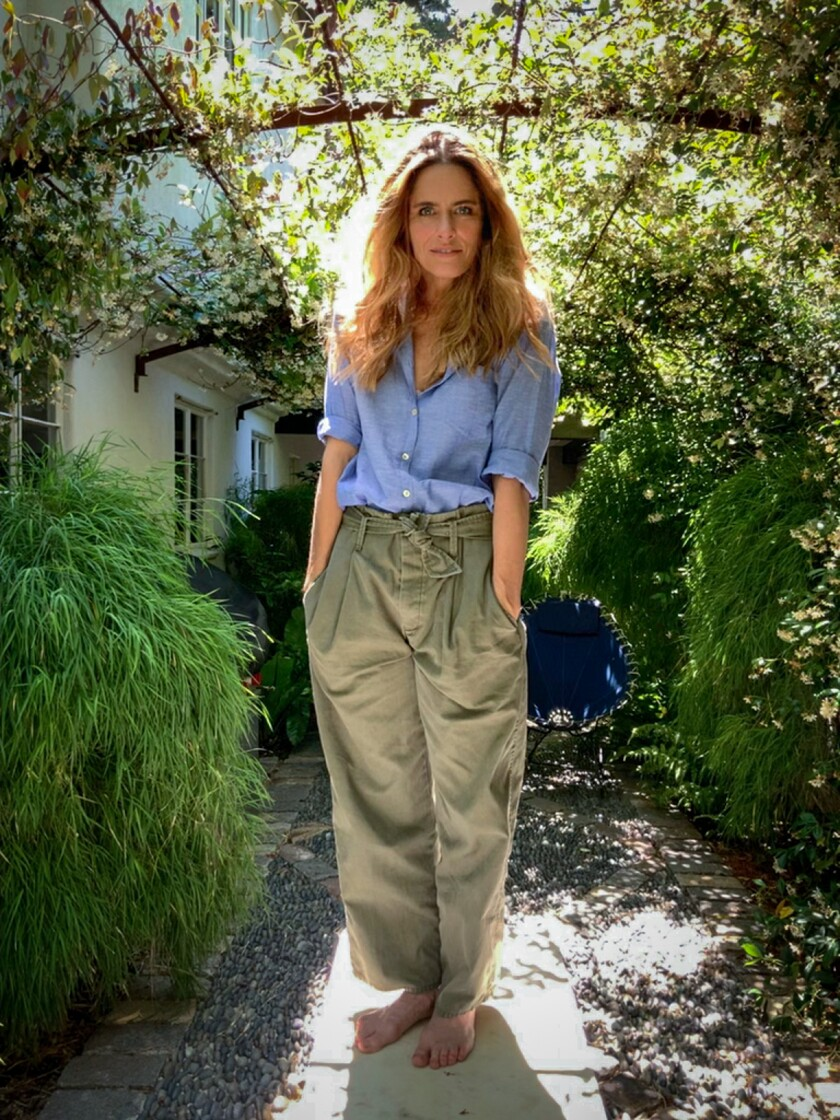 """Amanda Peet, who stars in """"Dirty John: The Betty Broderick Story,"""" photographed via iPad at her Los Angeles home."""