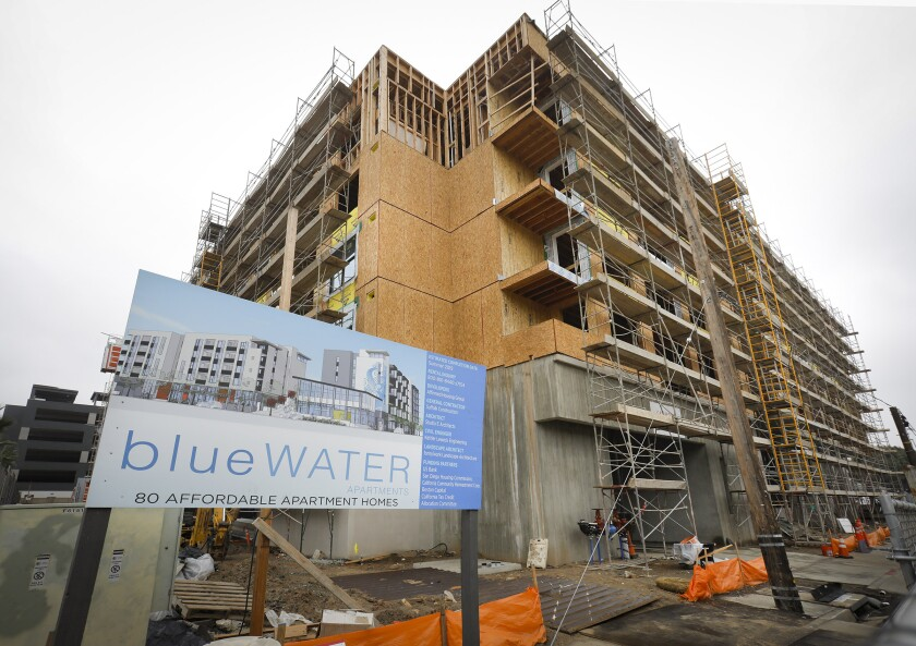 Bluewater, an 80-unit complex being built at the corner of Fairmont Avenue and Twain Avenue in Grantville, includes rent-restricted units.