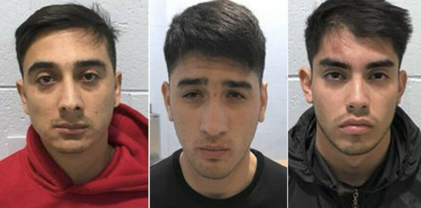 Jonathan Garay, 29, Eduardo Queralto, 22, and Kevin Castillo, 22, who were in the United States on t