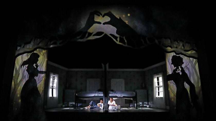 Bedtime scenes are gorgeously rendered in director May Adrales' arresting production, with Hana S. Kim's projection and puppet design and David M. Barber's sumptuous set.