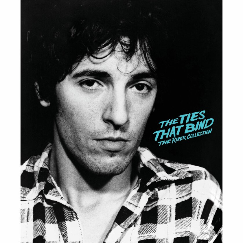 """This box set cover image released by Columbia Records shows """"The Ties That Bind: The River Collection,"""" by Bruce Springsteen. (Columbia Records via AP)"""