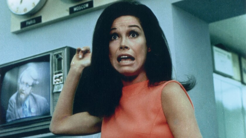 "Mary Tyler Moore as Mary Richards in 1970 on ""The Mary Tyler Moore Show."""
