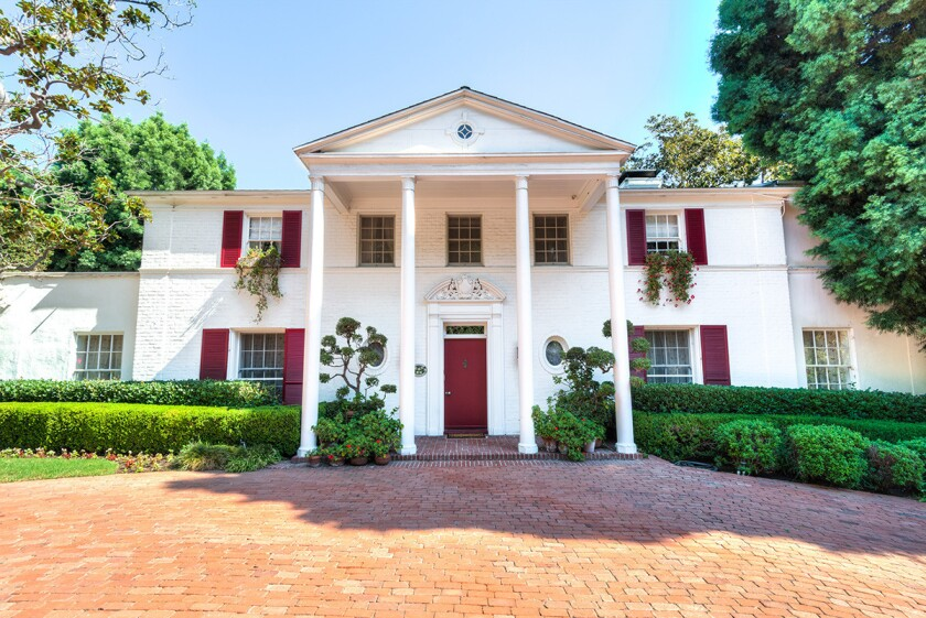 The Paul Williams-designed Southern Colonial-style home counts actors Eva Gabor, Frank Sinatra, Mia Farrow, Audrey Hepburn and David Niven among its past residents.