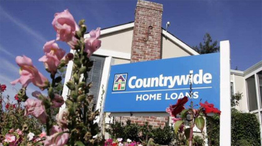 MORTGAGE LENDER: The exterior view of a Countrywide banking and loan office in San Mateo, Calif.