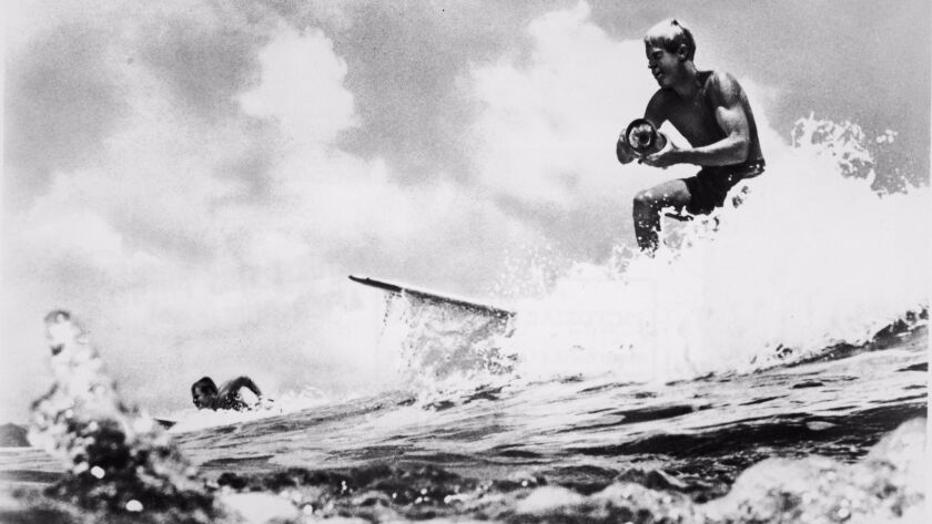 Bruce Brown Surfing With Camera In 'Endless Summer'