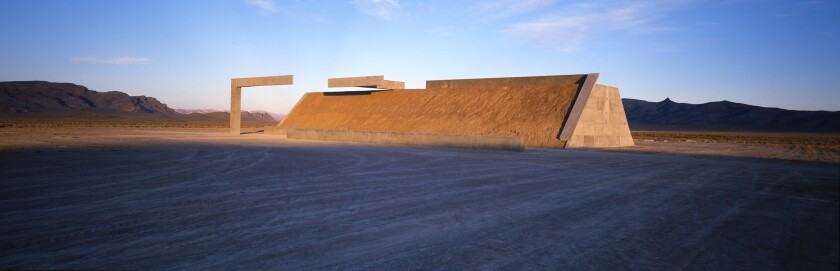 """Land surrounding Michael Heizer's in-progress artwork """"City"""" in central Nevada will be protected as part of a new national monument that President Obama is creating."""