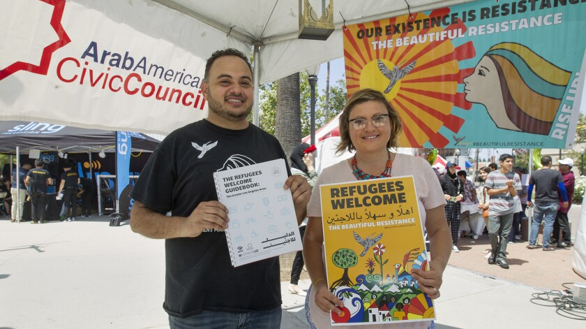 Rashad al-Dabbagh, Arab American Civic Council executive director, and Monica Curca, Activate Labs founder and director, created the Refugees Welcome Guidebook, a multi-platform, hyper-local, Arabic and English manual written for refugees in Southern California.
