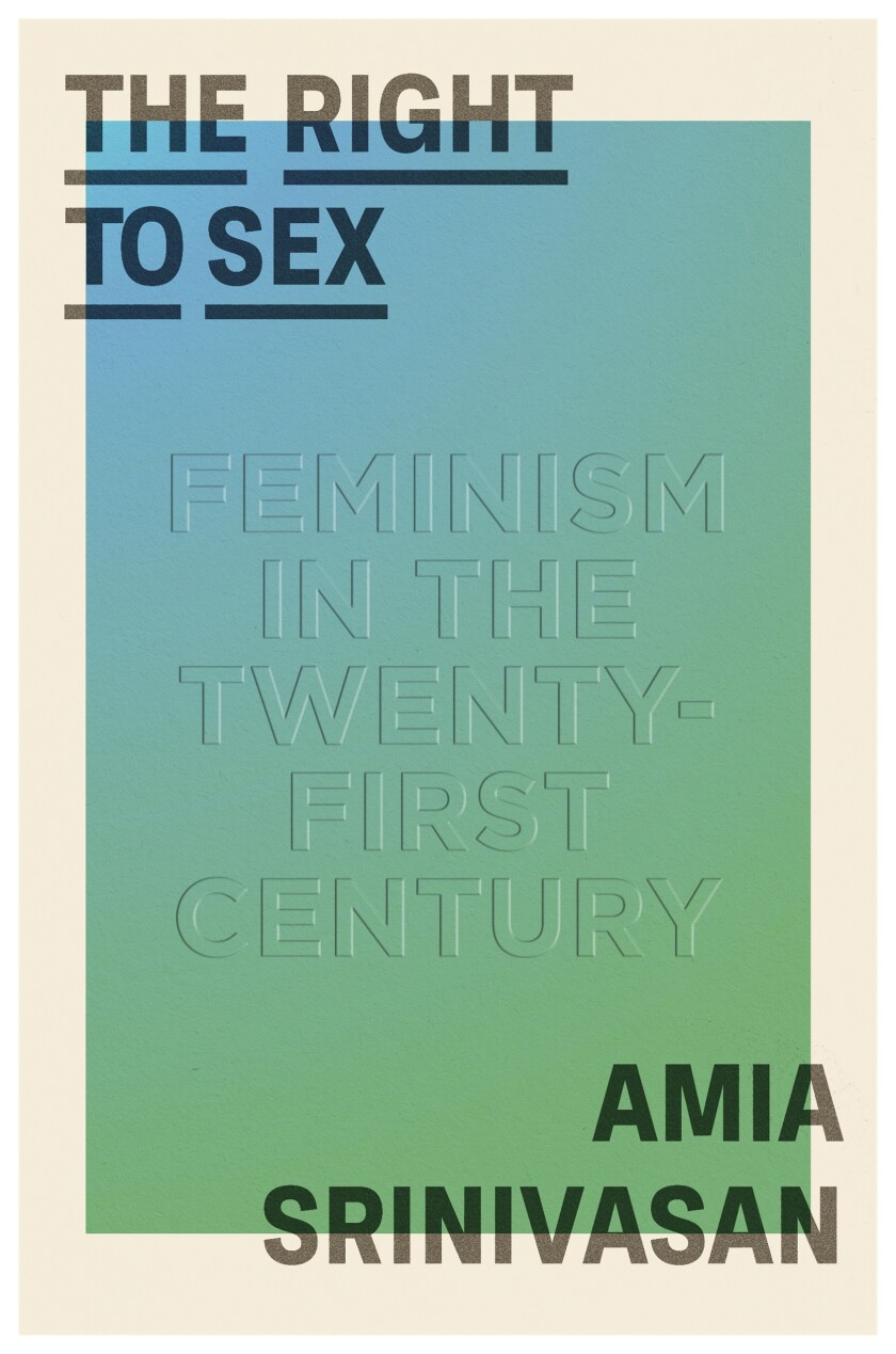 """The words """"The right to sex"""" in the upper left corner, the author's name in the lower right"""