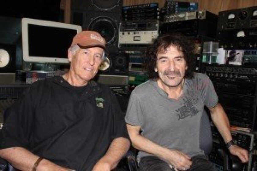 Nick Binkley and Valery Saifudinov at Saifudinov's recording studio. Courtesy photo