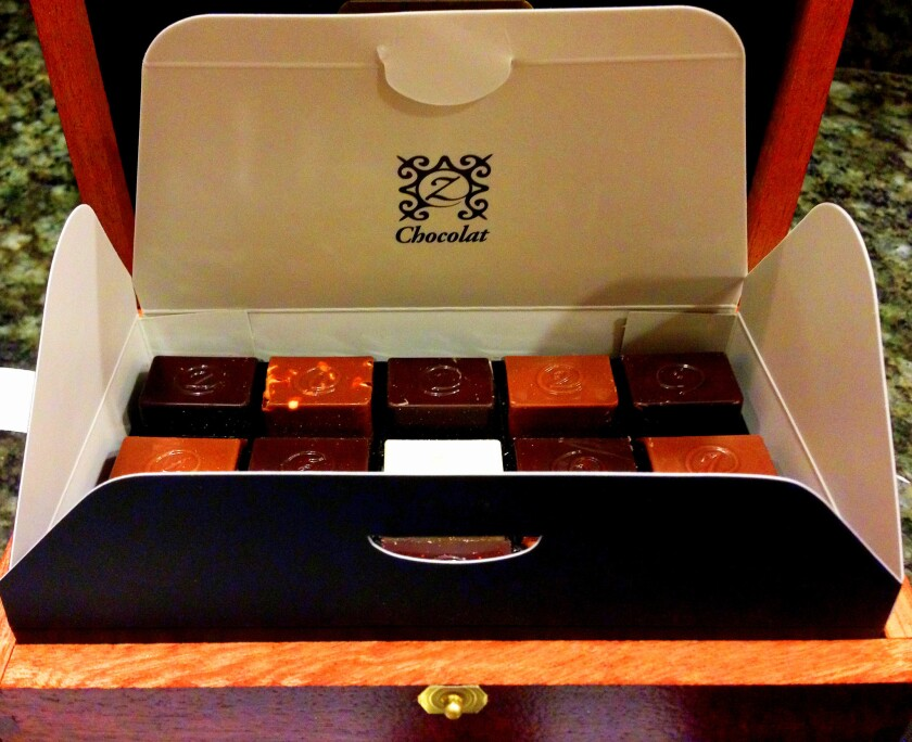 Aix en Provence-based Z Chocolat specializes in gift boxes of chocolates.