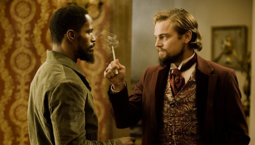 """Jamie Foxx and Leonardo DiCaprio star in Quentin Tarantino's """"Django Unchained,"""" which was named one of the American Film Institute's top 10 movies of the year."""