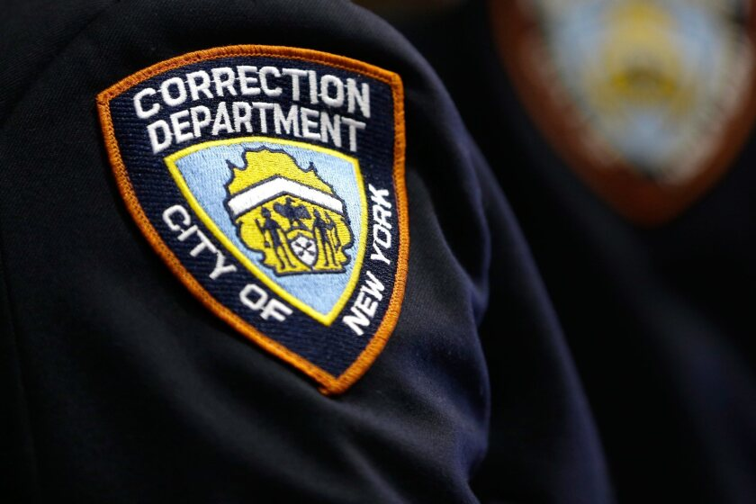 Members of the Correction Department's K-9 unit were transferred after a brawl inside a Rikers Island trailer office on June 9, 2017.
