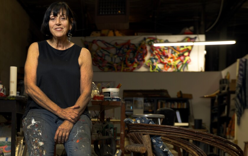 Jaime Scholnick in her East Los Angeles art studio.